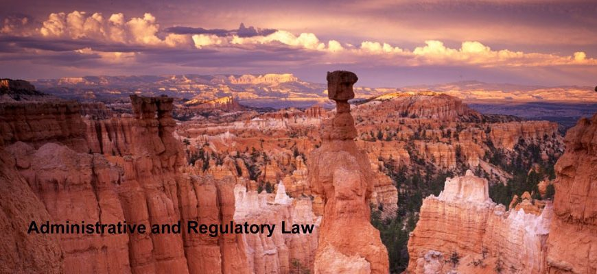 Administrative and Regulatory Law